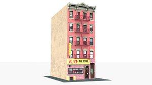 3D big wong restaurant chinatown model