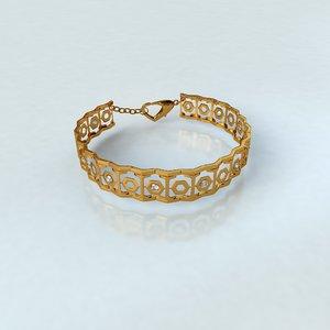 bracelet gold silver 3D model