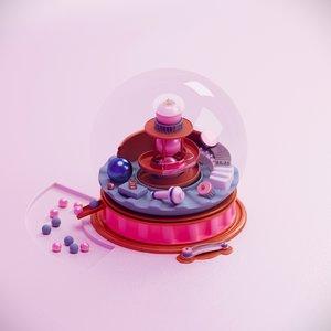 glass ball toy 3D model
