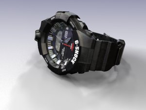 watch g-shock ga-800-1a 3D model
