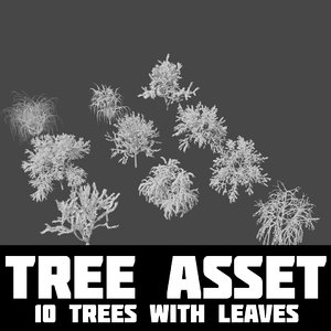 3D trees nature
