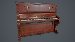 3D model pbr old piano