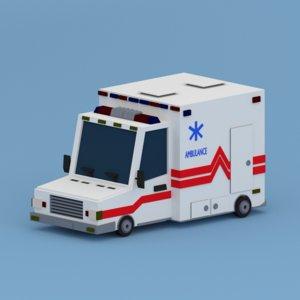 3D model ambulance cars