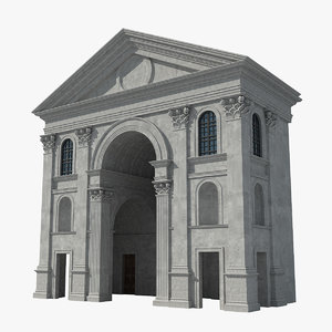 church architectural european europe 3D
