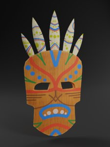 3D model shaman mask