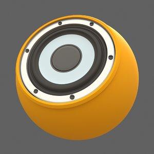 bluetooth portable speaker 3D model
