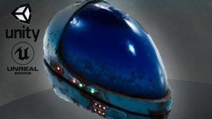 helmet different 3D model