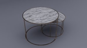 3D shagreen nesting coffee table