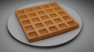 waffle food 3D