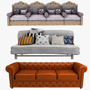 3D model sofa couch settee
