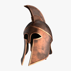 3D ancient greek helmet