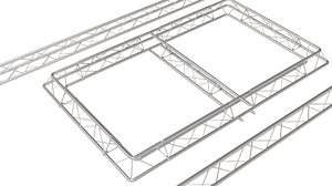 3D frame steel steelwork