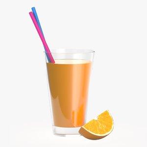 orange slice juice model