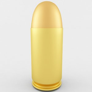 3D model 45 acp cartridge