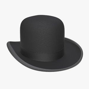 3D model black hat bowler