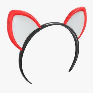 cat headband ears 3D model