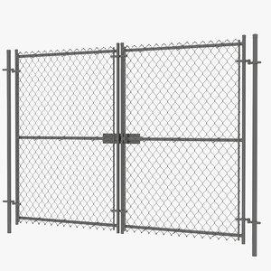 3D door link fence model
