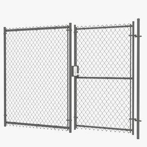 3D door link fence