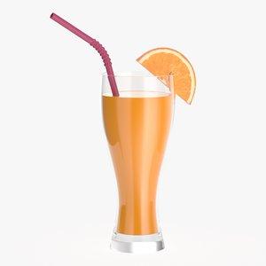 3D orange juice weizen