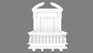 colonial balcony 3D model