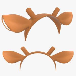 deer headband ears model