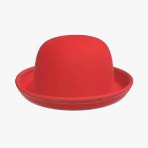 red hat bowler 3D