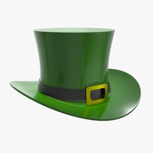 3D hat patrick day