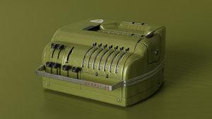 brunsviga calc calculator 3D