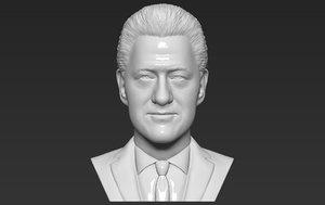 3D model president bill clinton bust