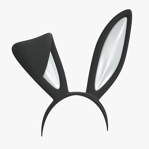 3D headband bunny ears model