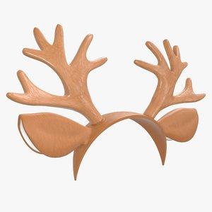 3D headband deer horn model