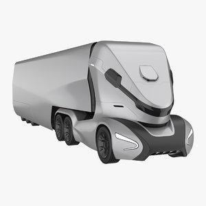 3D self-driving truck concept model