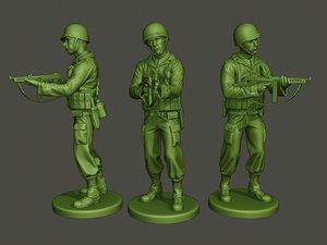 3D american soldier ww2 shooting