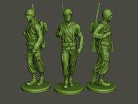 American soldier ww2 walk A1