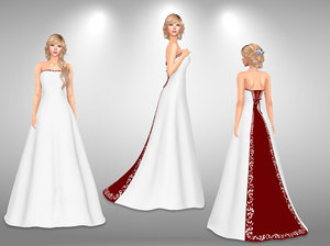 bridal gown 3D model