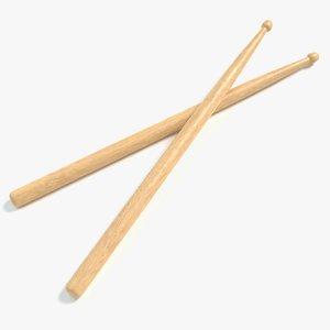 3D drum sticks model