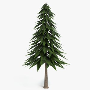 3D stylized pine tree