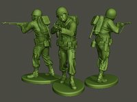 American soldier ww2 Shoot Stand A3