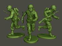 American soldier ww2 run A3