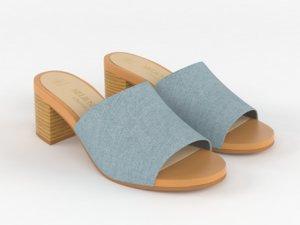 realistic women slide sandal 3D