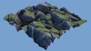 rock landscape model