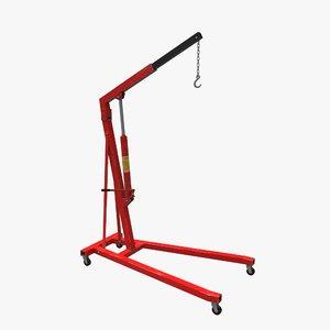 workshop crane 3D model