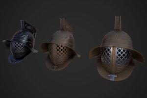 3D gladiator helmet