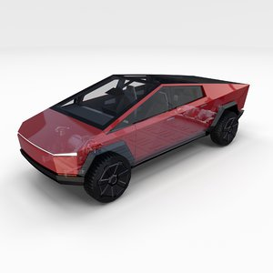 tesla cybertruck chassis interior 3D model