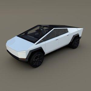 3D tesla interior
