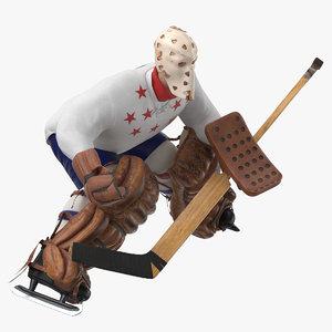 ice hockey goalie guarding 3D