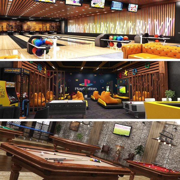 center bowling arcade 3D
