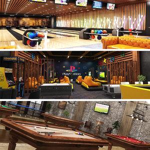 center bowling arcade 3D