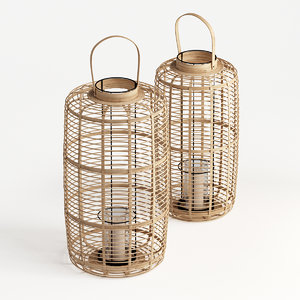 3D bamboo lanterns juno model