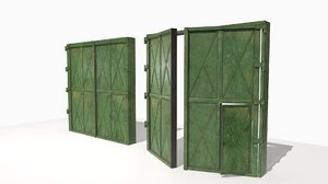 3D model 2 realistic metal gates
